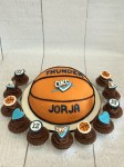 Oklahoma City Basketball Cake & Cupcakes