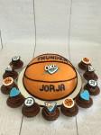Oklahoma City Basketball Cake & Cupcakes