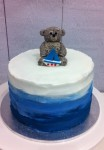 Ombre Blue with Bear & Boat