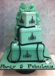 Ombre Mint Giftbox Cake