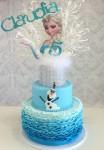 Ombre Ruffle Frozen Cake