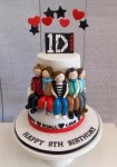 One Direction Cake  5 on 7 inch