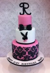 Playboy Bunny Damask  4 inch on 6 inch on 8 inch
