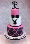 Playboy Bunny Damask  4 inch on 6 inch on 8 inch
