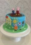 Peppa PIg & Family cake 7 inch
