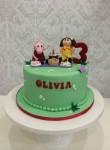 Peppa & Jemima Picnic Cake