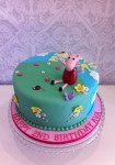 Peppa Pig Garden Pink Cake