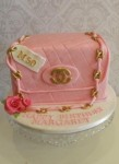 Chanel Bag Pink 7 inch Cake