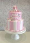 Pink Stripe Pony Cake