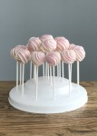 Pink & White Stripe Cake Pops