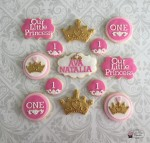 Princess 1st Birthday Cookies