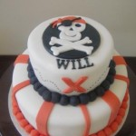 Pirate Cake  5 inch on 7 inch
