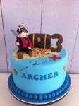 Pirate with Chest  8 inch cake with figurine