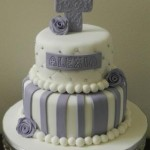 Purple & White Stripe with quilting 5 inch on 7 inch