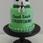 Soccerball Cake with figurine 5 inch cake with Ball & Figurine