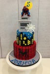 Superhero Cake  4 inch Foam on 5 inch on 7 inch