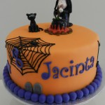 Witch Cake with Black cat  8 inch