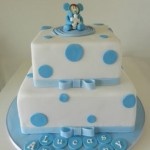 Square Polka dot with Figurine 6 inch on 8 inch