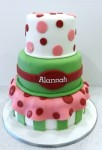 Strawberry Shortcake 5 inch on 7 inch on 9 inch Cake