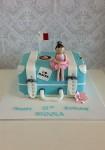 Suitcase Travel Cake