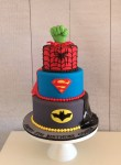 Superhero Cake with Spider