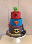 Superhero Cake with Spider