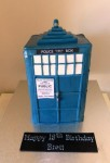 Tardis Cake  ( Dr.Who )  5 inch Triple barrel