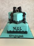 Teal Gift Box Cake