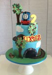 Thomas The Tank Engine Cake  6 inch on 8 inch Toy not included