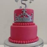Magenta Pink 2D Tiara Cake 0 5 inch on 7 inch
