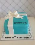 Tiffany Gift Box Cake   10 inch