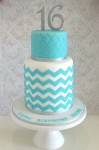Tiffany Chevron Cake