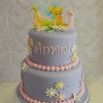 Tinkerbelle Purple & Pink 2 Tier  6 inch on 8 inch