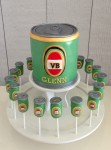 VB Can Cake  & 20 Cake Pops