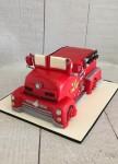 Vintage Firetruck Cake