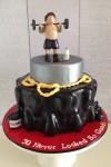 Weightlifter Cake