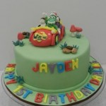 Wiggles Cake with Big Red Car &  4 x Figurines  8 inch cake