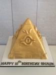Yu-Gi-Oh Pyramid Cake