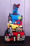 Spiderman, Superman & Batman Cake