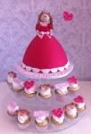 Dolly Varden with 1 dozen pf. cupcakes $200.00