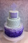 Purple Ombre ruffle 4 inch on 6 inch on 8 inch