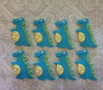 Blue Dinosaur Cookies
