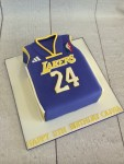 LA Lakers Basketball Jersey Cake
