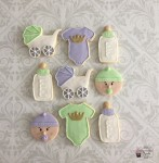 Baby Shower Lime & Purple Cookies