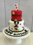 Mickey Mouse Red & Yellow Cake