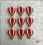 Hot Air Balloon Cookies Red