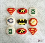 Superhero Symbol Cookies