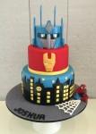 Transformers, Ironman & Spiderman Cake