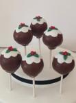 Christmas Pudding Cake pops