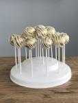 Gold & White Stripe Cake Pops